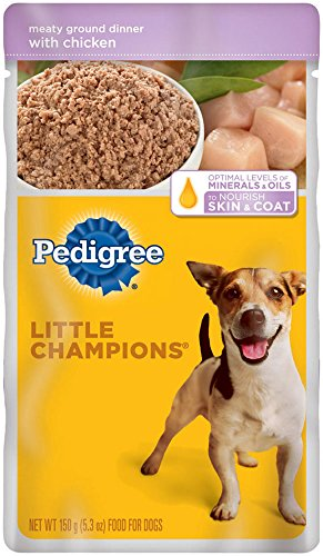 PEDIGREE Little Champions Meaty Ground Dinner With Chicken Wet Dog Food 5.3 Ounces (Pack of 24) (Wet Dog Food For Small Dogs compare prices)