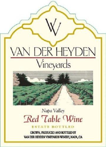 Nv Van Der Heyden Vineyards Napa Valley Red Table Wine 750 Ml