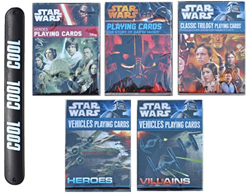 Star Wars Gift Poker Fun Novelty Playing Cards Multipack Heroes Villians Vehicles Darth Vaderwith COOL Slapstick Gift Idea for Him Dad Brother