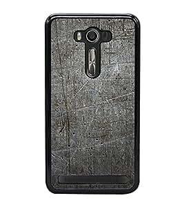 Grey Pattern 2D Hard Polycarbonate Designer Back Case Cover for Asus Zenfone 2 Laser ZE550KL (5.5 INCHES)