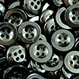 Knopfparadies - 20er Set kleine elegante schwarze Vierloch Kunststoff Knöpfe