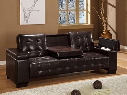 San Diego Vinyl Convertible Sofa