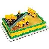 A Birthday Place Construction Scene Cake Topper Kit
