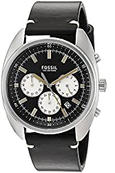 Fossil Chronograph Black Dial Mens Watch-CH3043