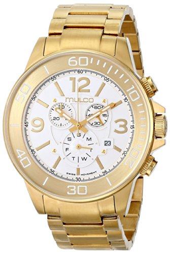Mulco MW4-90147-321 - Reloj de pulsera hombre, acero inoxidable, color dorado