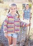 Sirdar Crofter DK Children's Cardigans Knitting Pattern 2403