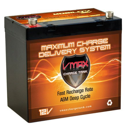 Vmaxmb96 Agm Group 22 Deep Cycle Battery Replacement For Pride Jazzy 614Hd 12V 60Ah Scooter Battery