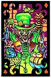 Alice in Wonderland Mad Hatter Collage Flocked Blacklight Poster Art Print - 23x34