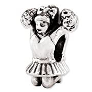 Sterling Silver Reflections Cheerleader Bead