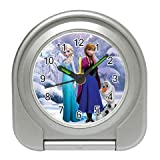 Frozen Elsa Anna Olaf Disney Quartz Universal Indoor/Outdoor Travel Bedside Alarm Clock Watch Cute Cartoon Movies Films Frozen Magic Snow Queen Frost Elsa Creative Gift, Diameter 2  and Light Weight 40 g, Battery Included