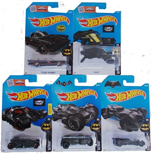 2016 Hot Wheels Batman 5 Car Complete Set Batmobile