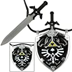 Dark Link Master Sword & Hylian Shield Legend of Zelda Necklace from Armory Replicas