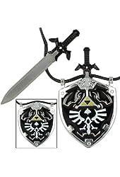 Dark Link Master Sword & Hylian Shield Necklace