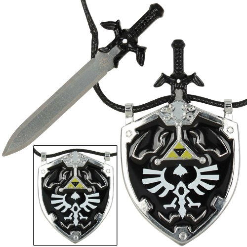 Dark Link Master Sword & Hylian Shield Necklace