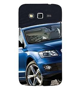 Luxury Blue Car 3D Hard Polycarbonate Designer Back Case Cover for Samsung Galaxy Grand 2 :: Samsung Galaxy Grand 2 G7105 :: Samsung Galaxy Grand 2 G7102