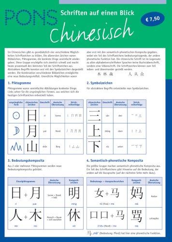 PONS Schriften auf einen Blick. Chinesisch