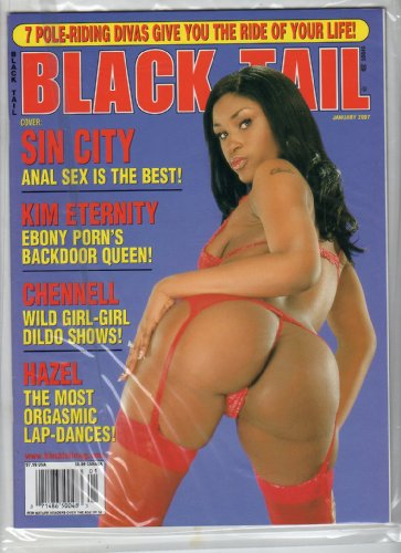 Adult black magazine tail