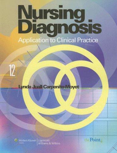 Nursing Diagnosis: Application to Clinical Practice...