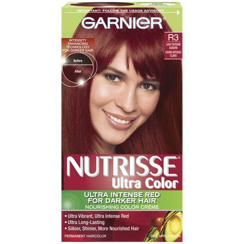 Garnier Nutrisse Haircolor, R3 Light Intense Auburn Nourishing Color Creme Permanent at Amazon.com