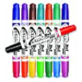 Board Dudes SRX 2-in-1 Double Sided Dry Erase Markers (42402BDUA-24)