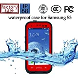 Redpepper® Durable Waterproof Dustproof Snowproof Shockproof Protective Cover Case for Samsung Galaxy S3 I9300 (Red)