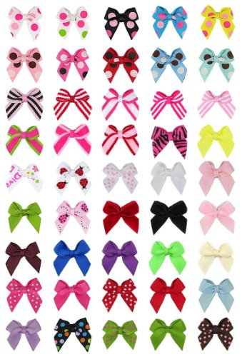 Hip Girl Boutique No Clip Baby Ribbon Hair Bows-Baby Shower Gift!