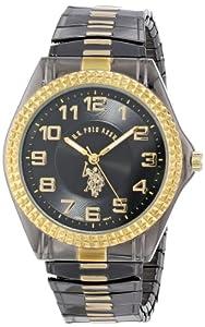 U.S. Polo Assn. Classic Men's USC80056 Gun-Metal Analogue Black Dial Expansion Watch