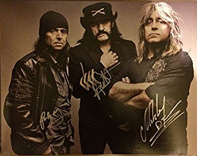 Motorhead In-person Autographed 11 X 14 Band Photo By All 3