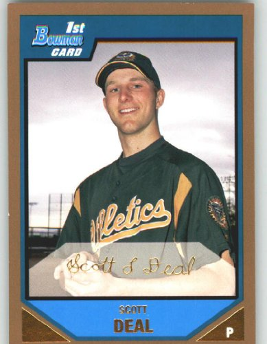 2007 Bowman Prospects Gold #BP12 Scott Deal - Oakland Athletics (XRC - Rookie Card Parallel / Prospect Parallel)(Baseball Cards)