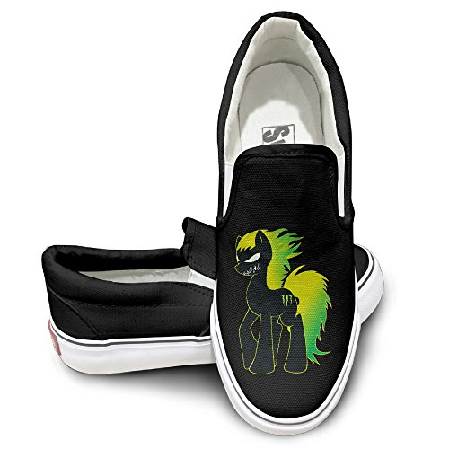 [Custom Men's & Women's Funny Anger Horse Casual Shoes Black Size 41] (Boxtroll Shoe Costume)