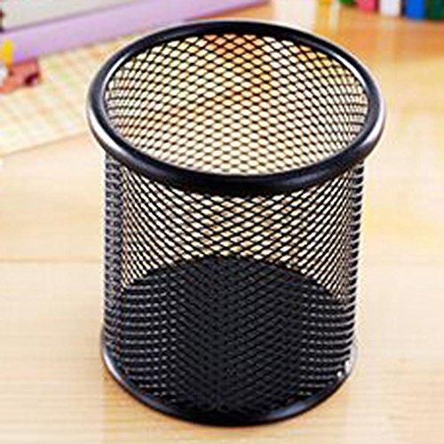 LEERYA Study Creative Multifunction Desktop Circular Grid Iron Sundry Pencil Cylinder (Can Holder Neck compare prices)