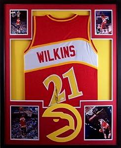Dominique Wilkins Framed Jersey Signed JSA COA Autographed Atlanta Hawks by Mister Mancave
