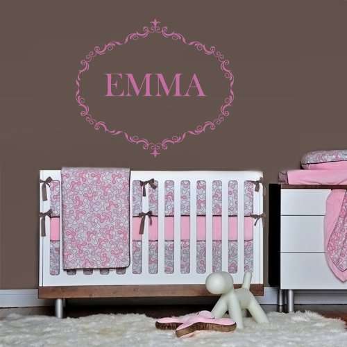 Wall Decals Sticker Bedroom Kids Nursery Baby Custom Name Monogram Personalized Sign Words (Z1109) front-1062777