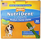 Nutri Dent Complete Dental Chews for Adult Dogs up to 30 Pounds, Chicken, 1.9 lbs., 32 Count Pantry Pack,