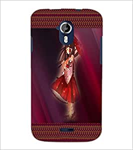 PrintDhaba Umbrella Girl D-4073 Back Case Cover for MICROMAX A116 CANVAS HD (Multi-Coloured)