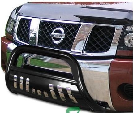 Black HAMMERED Stainless Steel Bull Bar Brush Bumper Grille Guard Nissan Titan Armada (2012 Nissan Armada Grille compare prices)