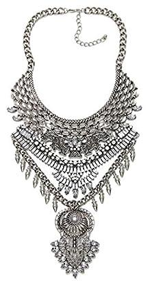 buy Btime Women'S Retro Bohemia Tassel Alloy Necklace Collar Necklace