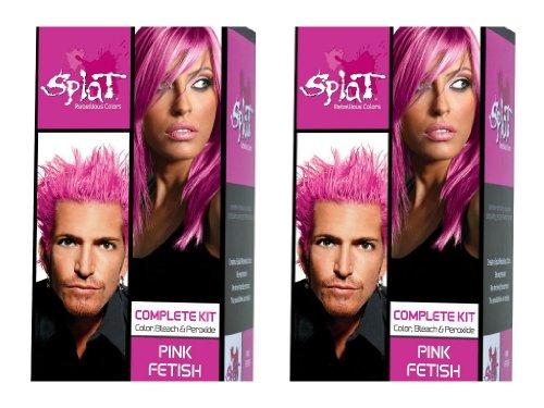 Splat Rebellious Colors Hair Coloring Kit - Pink Fetish (Set of 2)