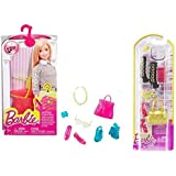 Maven Gifts: Barbie Fashion Accessory 2 Pack Red And Gold Set With Multicolor Set Shoes, Purses, And Accessories...