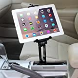 iKross 2-in-1 Tablet and Cellphone Adjustable Swing Extended Cup Mount Holder Car Kit for iPad iPhone Samsung Tablet Smartphone and Uber Driver