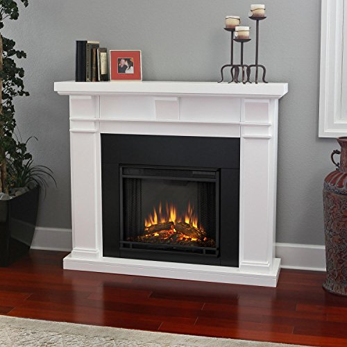 Porter Electric Fireplace - White