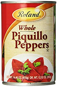 Roland Whole Piquillo Peppers (12.52 ounce dry weight), 14.46 Ounce Cans (Pack of 4)