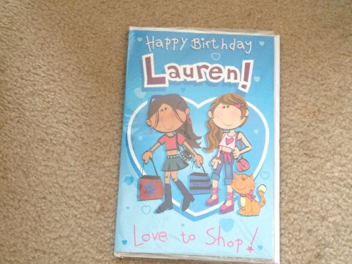 Happy Birthday Lauren - Singing Birthday Card - 1