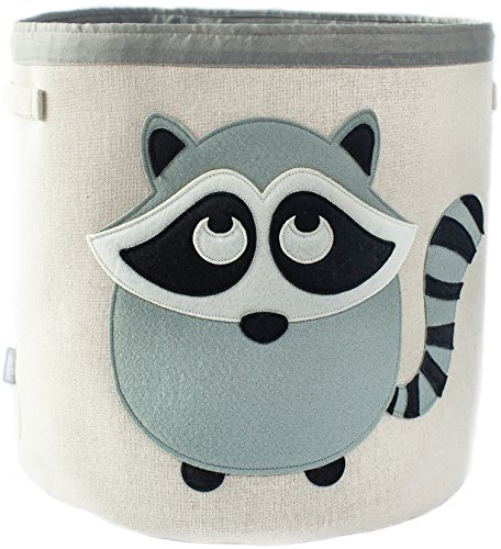 Fantastic Deal! Canvas Storage Bin for Nursery or Kids Room | Animal Theme Collapsible| Great for Pl...