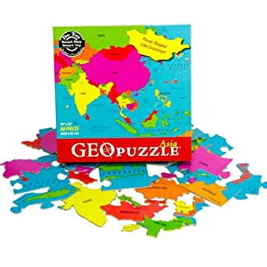 Geopuzzle Asia Puzzle