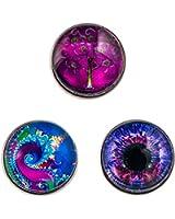 Morella® Damen Click-Button Set 3 Stück Druckknöpfe Farbenspiel
