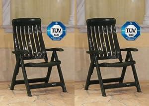 gartenm bel outlet 2x steiner marina klappst hle gartenst hle klappbar wetterfest gr n. Black Bedroom Furniture Sets. Home Design Ideas