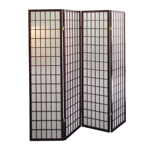 Buy Cheap ORE International 4-Panel Room Divider, Cherry