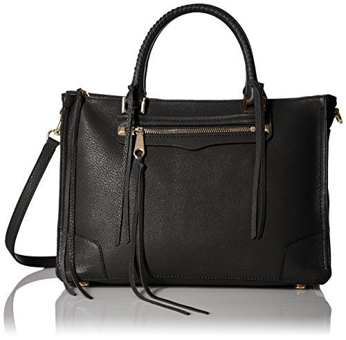 Rebecca Minkoff Regan Satchel Tote Shoulder Bag, Black, One Size