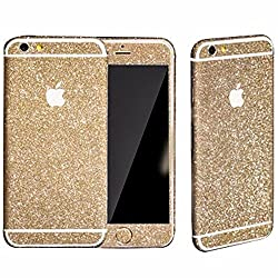 Heartly Sparking Bling Glitter Crystal Diamond Protective Film Whole Body Phone Skin Sticker For Apple iPhone 5 5S 5G / iPhone SE - Mobile Gold